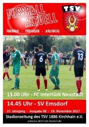 19.11.2017 - Stadionzeitung SV Emsdorf / Intertürk Neustadt