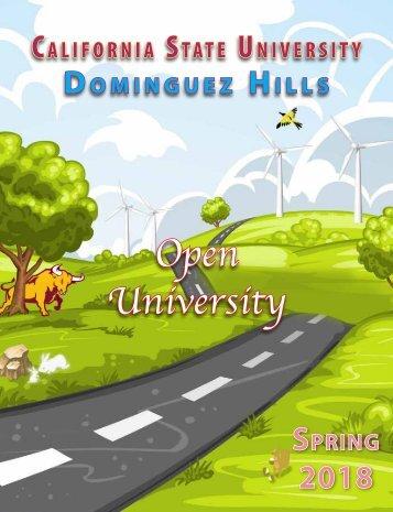 Spring 2018 Open University Schedule Interactive