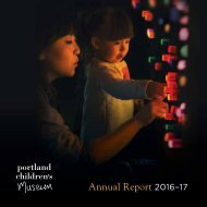 Portland Children's Museum: Annual Report 2016-17