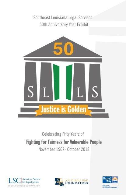 SLLS 50th Anniversary Justice is Golden Exhibit Program Book