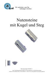 Nutensteine mit Kugel und Steg - auel Verbindungstechnik