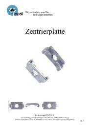 Zentrierplatte - auel Verbindungstechnik