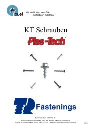 KT Schrauben - auel Verbindungstechnik
