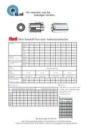 Mini Standoff-Sert-mini Ankernietenbuchse - auel Verbindungstechnik