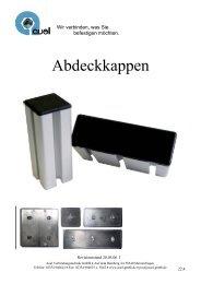 Abdeckkappen - auel Verbindungstechnik
