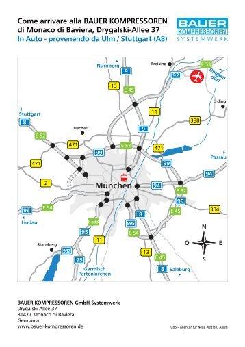 provenendo da Ulm / Stuttgart (A8) - Bauer Kompressoren