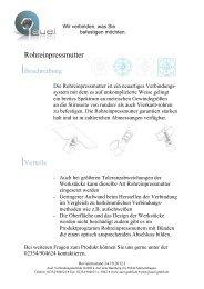 Rohreinpressmutter - auel Verbindungstechnik