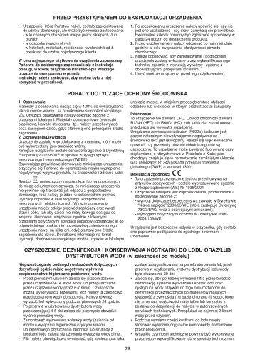 KitchenAid URI 1441/A+ - URI 1441/A+ PL (855043201300) Istruzioni per l'Uso