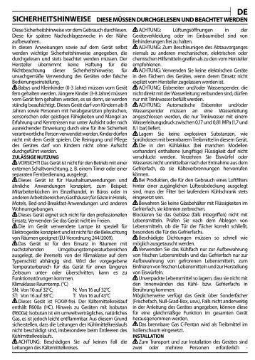 KitchenAid URI 1441/A+ - URI 1441/A+ DE (855043201300) Health and safety