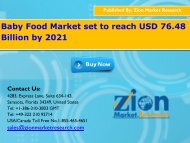 Global Baby Food Market, 2015–2021