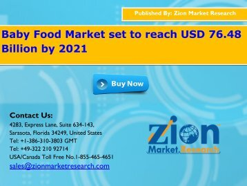 Global Baby Food Market, 2015–2021