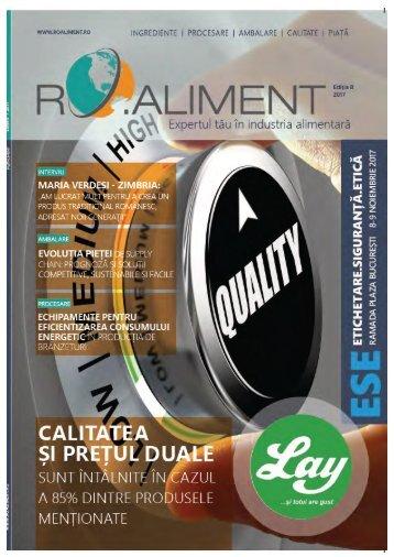 Revista Ro.aliment editia 8 - revista specialistilor din industria alimentara