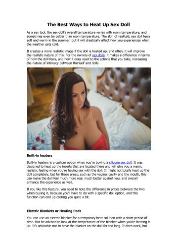 The Best Ways to Heat Up Sex Doll