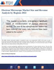 Electron Microscope Market Size and Revenue Analysis by Regions 2022