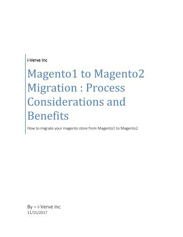 Migrate your online store from magento1 to magento2