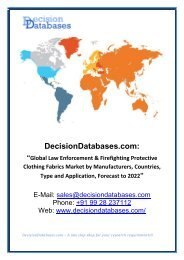 Worldwide Law Enforcement & Firefighting Protective Clothing Fabrics Market Growth Projection to 2022