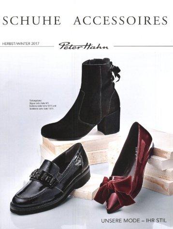 Каталог Peter Hahn Shuhe&Accessoires осень-зима 2017/2018. Заказ обуви на www.catalogi.ru или по тел. +74955404949