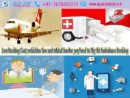 Need Air Ambulance from Mumbai to Delhi – Don't Wait Contact Sky Air Ambulance