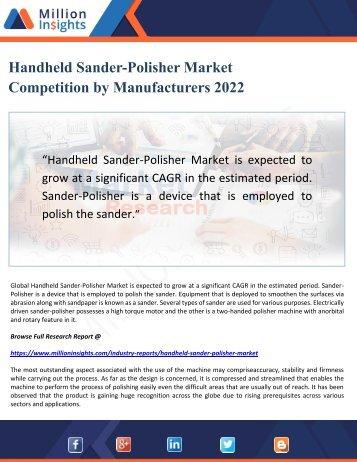 Handheld Sander-Polisher Market Competition by Manufacturers 2022