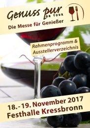 Rahmenprogramm & Ausstellerverzeichnis - Genuss pur ON TOUR Kressbronn 2017