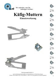 Käfig-Muttern Einsetzwerkzeug - auel Verbindungstechnik