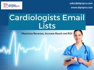 Cardiologists Email Lists | Cardiologists Mailing Database