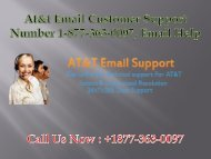 At&t Email Support Number 1-877-363-0097, Technical Helpline USA