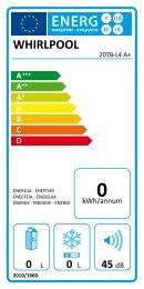 KitchenAid 20TB-L4 A+ - 20TB-L4 A+   (858643015010) Etichetta