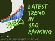 SEO Ranking Trend