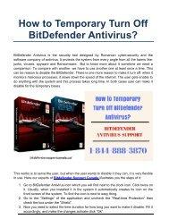 How to Temporary Turn Off BitDefender Antivirus?