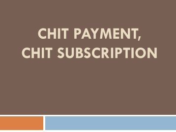 Chit Business, Chit Plan, Chit Operator, Chit Fund Schemes, Chit Fund Domain