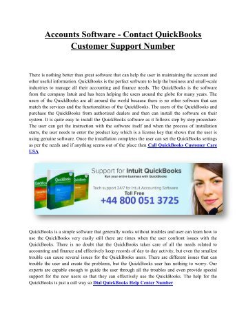 Contact QuickBooks Helpline Number