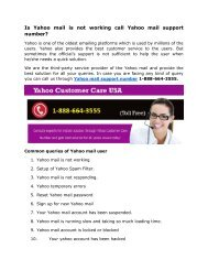 Is Yahoo mail is not working call Yahoo mail support 1-888-664-3555
