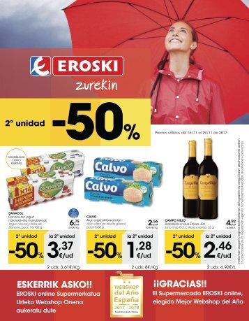 Catálogo EROSKI hiper del 16 al 29 de Noviembre 2017 euskera y castellano