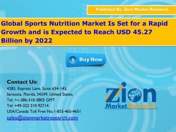 Global Sports Nutrition Market, 2016 – 2022