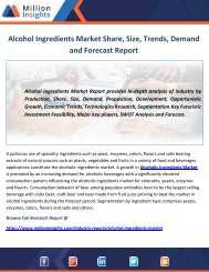 Alcohol Ingredients Market – Share, Demand, Growth, Trends & Forecasts (2017-2022)