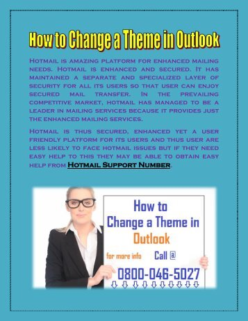 How to change theme in outlook