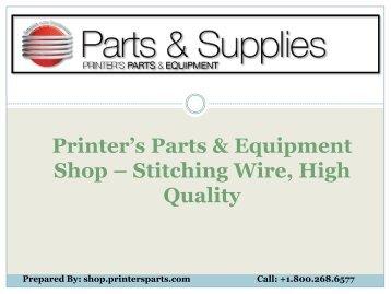 Buy Stitching Wire - Shop.printersparts