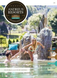 ANDREUS RESORTS***** - your small & luxury Resorts in the Alps