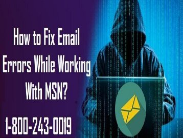 18002430019| How to Fix Email Errors While Working With MSN?