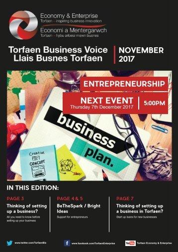 Torfaen Business Voice - November 2017 Edition (English)