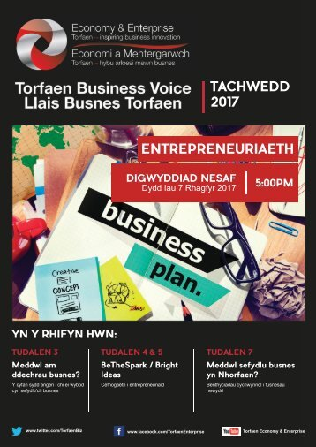 Torfaen Business Voice - November 2017 Edition (Welsh)