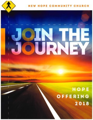 Hope Offering 2018 - Join the Journey