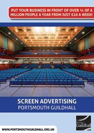Screen Advertising at Portsmouth Guildhall
