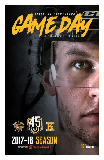 Kingston Frontenacs GameDay November 17, 2017