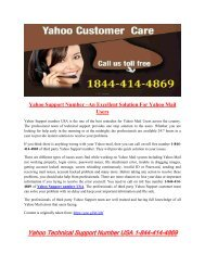 Yahoo Support Number USA–An Excellent Solution For Yahoo Mail Users