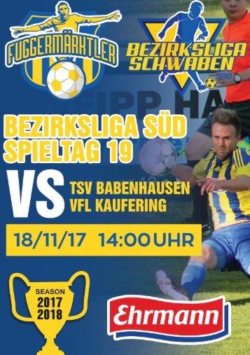 20171118 Fuggermärktler TSV 1862 Babenhausen – VfL Kaufering