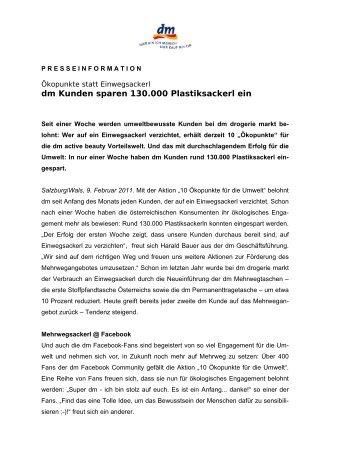 PRESSEINFORMATION - zu DM Drogeriemarkt