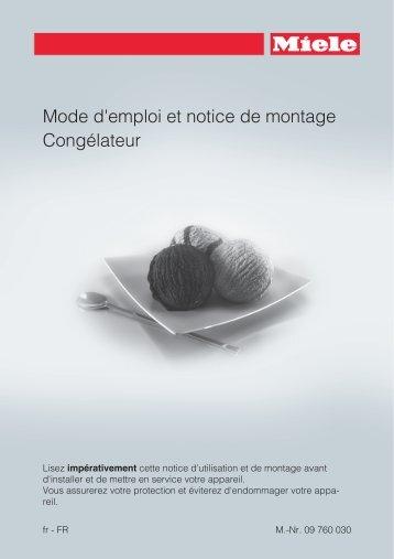 Miele KFN 16947 D ed/cs - Mode d'emploi et instructions de montage