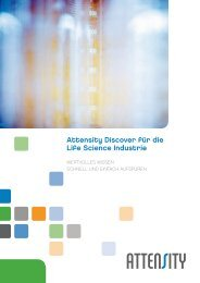 Attensity Discover für die Life Science Industrie